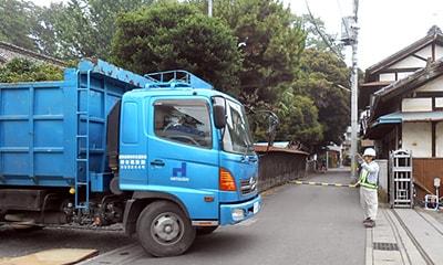 産業廃棄物の搬出写真